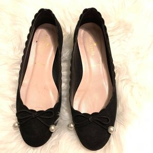 Kate Spade PEARL TIE FLATS BLACK Shoes